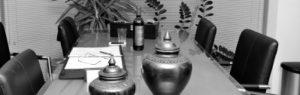 vergadertafel, zwartwit